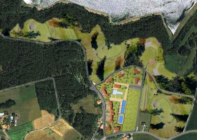 urbanizacion sobre imagen y +golf